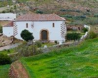 La capilla de un monasterio franciscano anterior Imagenes de archivo