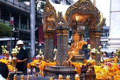 La capilla del Brahma cuatro-hecho frente (Phra Phrom) en Bangkok Imagen de archivo libre de regalías