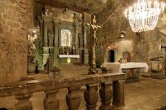 La capilla del santo Kinga en Wieliczka, Polonia. Fotografía de archivo libre de regalías