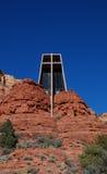 La capilla del Sedona cercano cruzado santo, Arizona Fotos de archivo