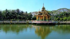 La capilla en la charca, Rangún, Myanmar metrajes