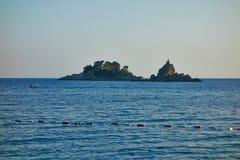 La capilla en la isla Imagen de archivo libre de regalías