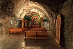 La capilla en Wieliczka, Polonia de San Juan. Fotografía de archivo