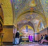 La capilla latina del Calvary en la iglesia de Santo Sepulcro Foto de archivo libre de regalías