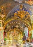 La capilla ortodoxa del Calvary en la iglesia de Santo Sepulcro Fotos de archivo