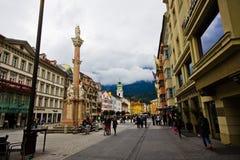 La capital de la tierra federal del Tyrol - el Innsbruk Fotografía de archivo libre de regalías