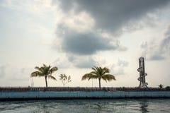 La capital de Maldivas es masculina maldives El Océano Índico Transbordador público Imagen de archivo libre de regalías