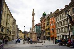 La capitale de la terre fédérale du Tyrol - l'Innsbruk Photos libres de droits