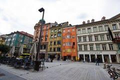 La capitale de la terre fédérale du Tyrol - l'Innsbruk Images stock