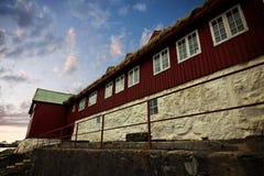 La capitale de Torshavn dans les îles de Faore Image libre de droits
