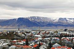 La capitale dell'Islanda - Reykjavik fotografie stock libere da diritti