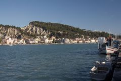 La capitale dell'isola di Zacinto fotografie stock