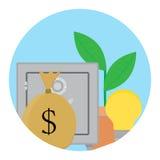 La capitalisation réussie finance l'icône Photographie stock libre de droits