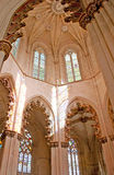 La cappella con gli arché nel monastero di Batalha Fotografie Stock Libere da Diritti