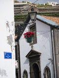 La cappella da Quay in Camara de Lobos un paesino di pescatori vicino alla città di Funchal ed ha alcune di più alte scogliere ne Immagini Stock