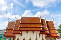 La cappella del tempio in un giorno luminoso del cielo del bule Immagine Stock Libera da Diritti