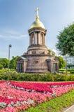 La cappella della trinità all'argine di Petrovskaya Immagine Stock