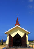 La cappella di Alta Vista in Aruba Immagini Stock