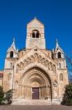 La cappella di Jak nel castello di Vajdahunyad situato nel parco della città di Budapest, Ungheria Immagine Stock Libera da Diritti