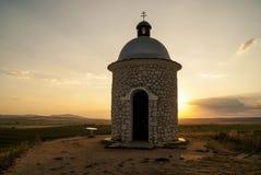 La cappella ha chiamato il› K del tÄ del ¡ del hradiÅ Fotografie Stock Libere da Diritti