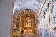 La cappella nella cattedrale di Monreale Immagine Stock