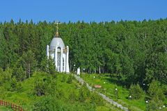 La cappella ortodossa russa sulla collina Fotografia Stock Libera da Diritti