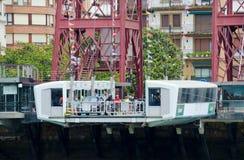 La capsula del ponte del trasportatore, Getxo fotografia stock