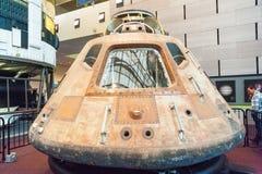 La capsula di Apollo 11 fotografie stock