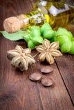 La capsula secca semina la frutta dell'arachide di sacha-Inchi Fotografia Stock
