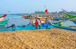 La captura del ` s de los pescadores Foto de archivo libre de regalías