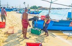 La captura del ` s de los pescadores Fotos de archivo libres de regalías