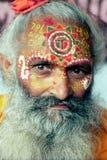 La cara adornó al monje Foto de archivo libre de regalías
