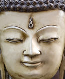 La cara de Buda en Nepal Fotos de archivo