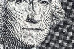 La cara de George Washington Fotografía de archivo libre de regalías