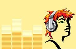 La cara de la música Imágenes de archivo libres de regalías