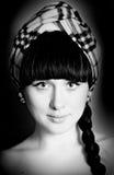 La cara de la muchacha Fotos de archivo