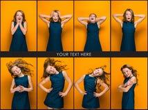 La cara de la muchacha adolescente feliz juguetona Fotografía de archivo libre de regalías