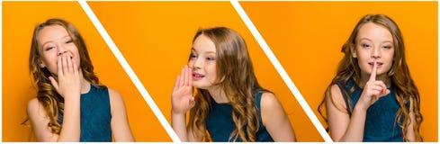 La cara de la muchacha adolescente feliz juguetona Fotografía de archivo