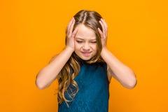 La cara de la muchacha adolescente triste Imagen de archivo libre de regalías