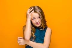 La cara de la muchacha adolescente triste Imágenes de archivo libres de regalías