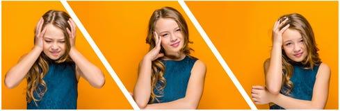 La cara de la muchacha adolescente triste Fotografía de archivo libre de regalías