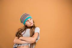 La cara de la muchacha adolescente triste Foto de archivo
