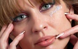La cara de la muchacha hermosa Imagen de archivo libre de regalías