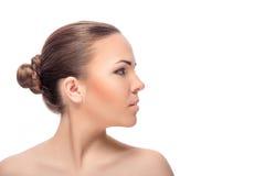 La cara de la mujer con maquillaje foto de archivo libre de regalías