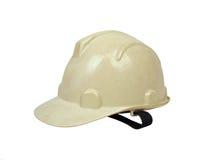 La cara del casco del constructor de la seguridad salió de dos Fotografía de archivo libre de regalías