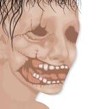 La cara del hombre muerto para el vector de Halloween Fotografía de archivo libre de regalías