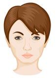La cara del ` s de la mujer Foto de archivo