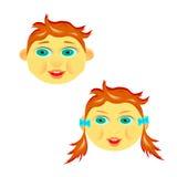 La cara del ` s del niño Imagenes de archivo