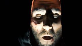 La cara del vampiro de griterío Mal asustadizo almacen de metraje de vídeo