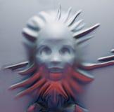 La cara en una tela Fotos de archivo